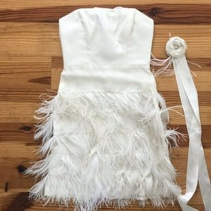 Size 2 Milly Ostrich Feather Dress.